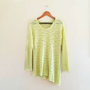 Soft Surroundings Assymetric Green Sweater 276
